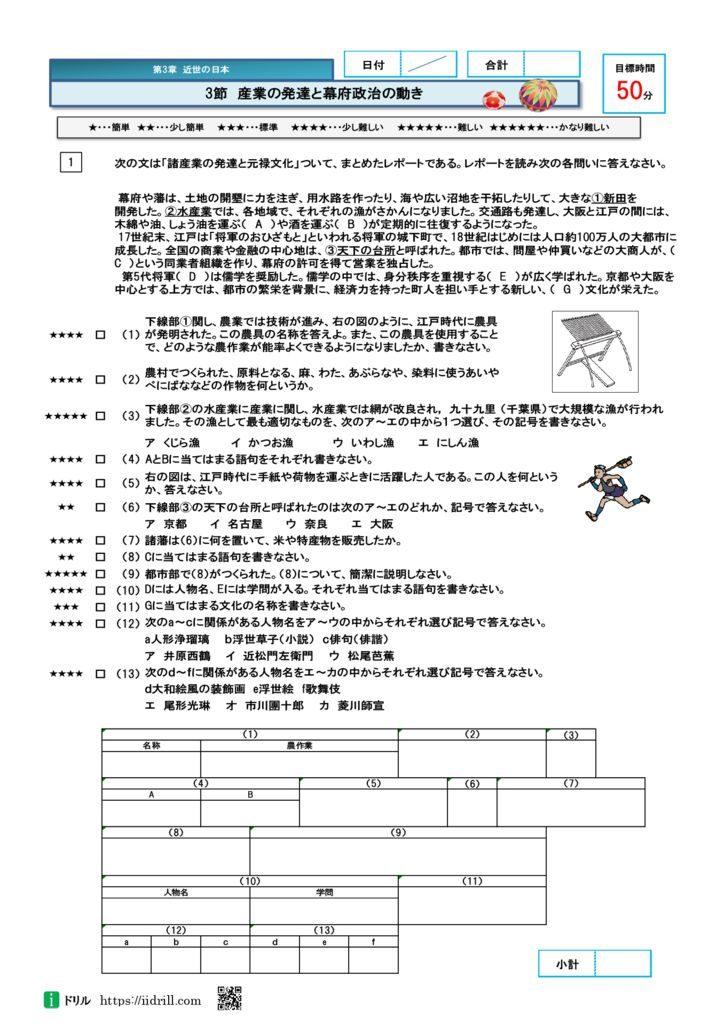 高校入試問題社会(歴史)22-25のサムネイル