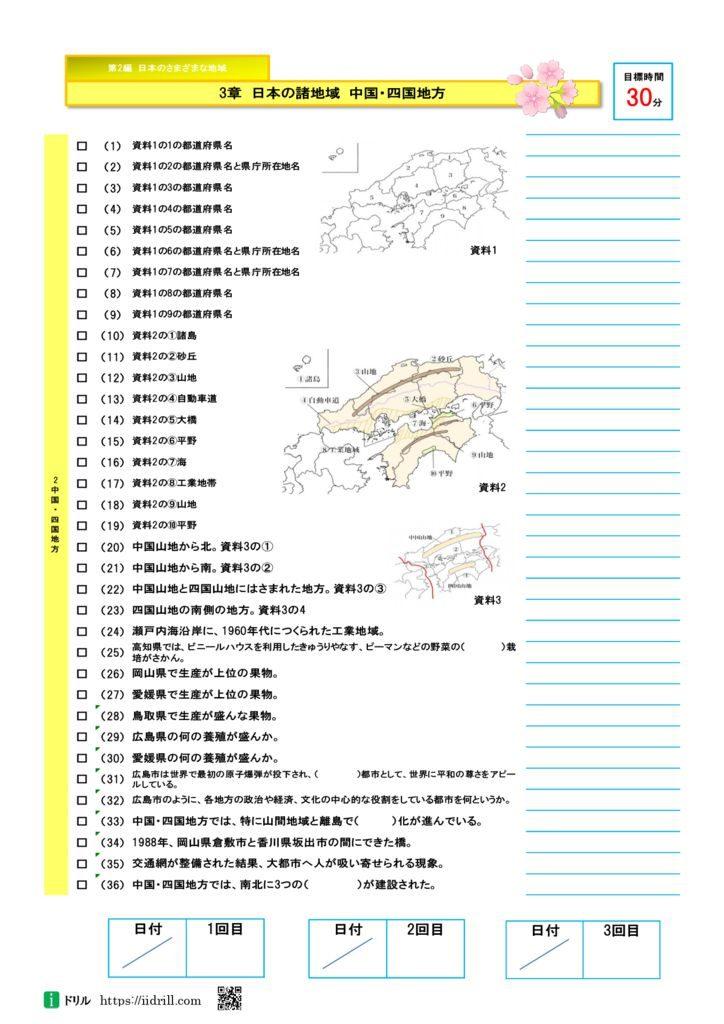 地理一問一答 第2編 第3章 日本の諸地域