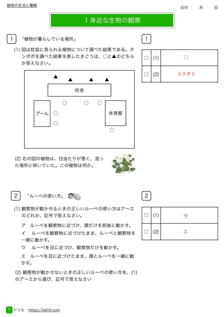 中1理科基礎練習問題k-1のサムネイル