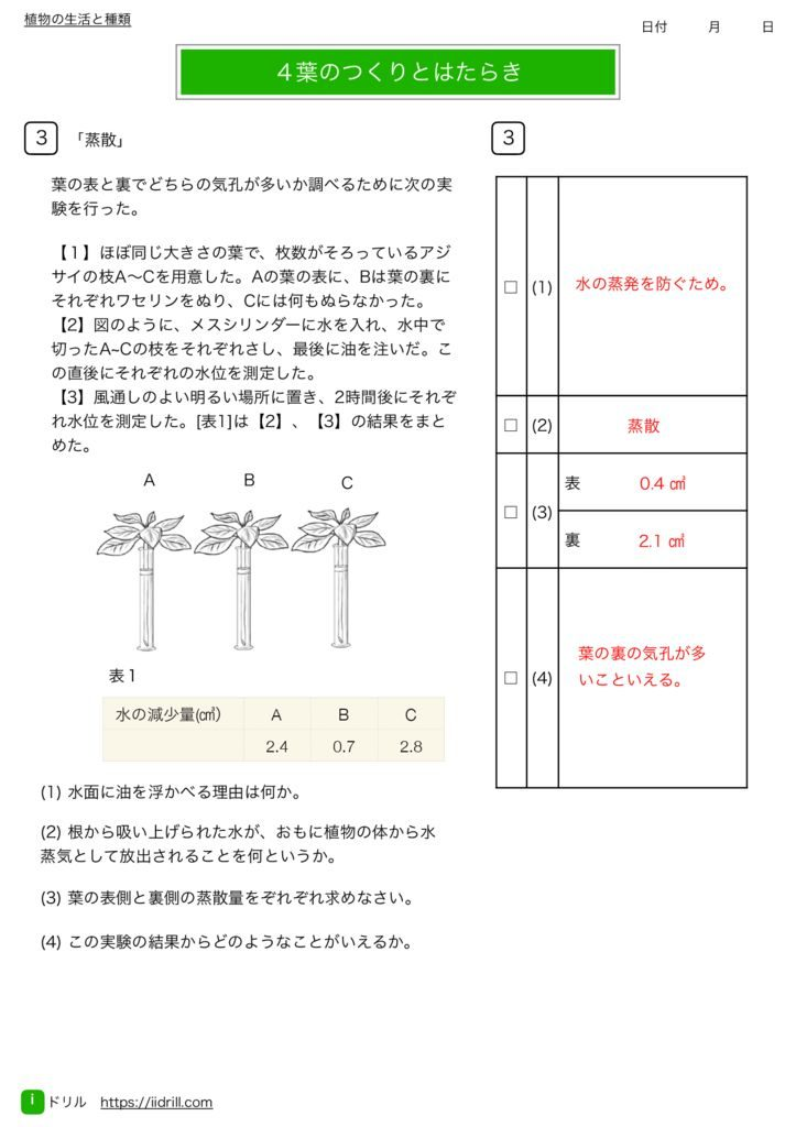 中1理科基礎練習問題k-11のサムネイル