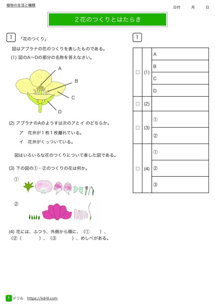 中1理科基礎練習問題m-5のサムネイル