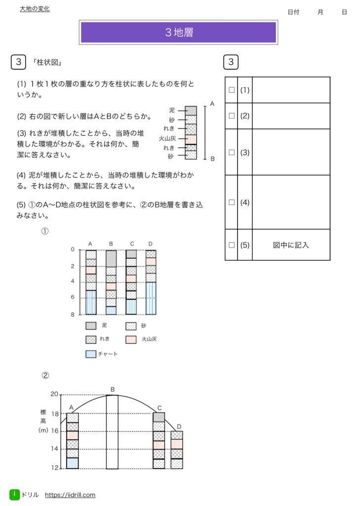 中1理科基礎練習問題m-52のサムネイル
