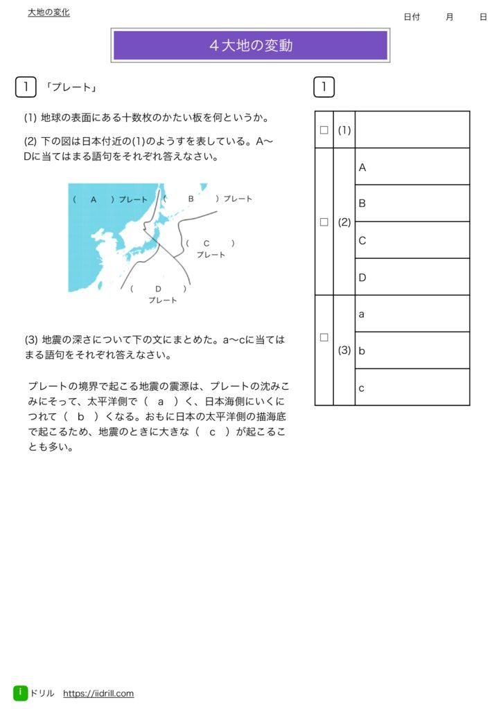 中1理科基礎練習問題m-54のサムネイル