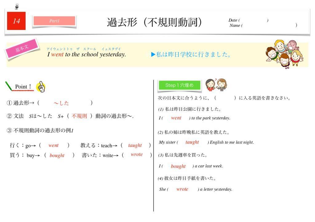 小学生から使える英語問題集中1k-100のサムネイル