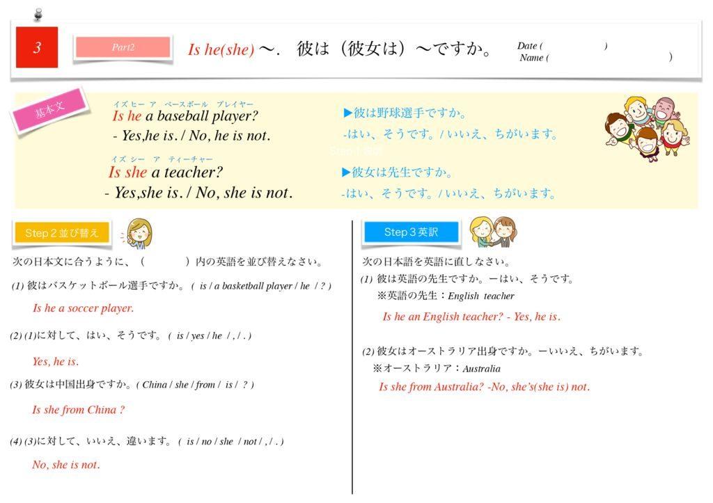 小学生から使える英語問題集中1k-20のサムネイル
