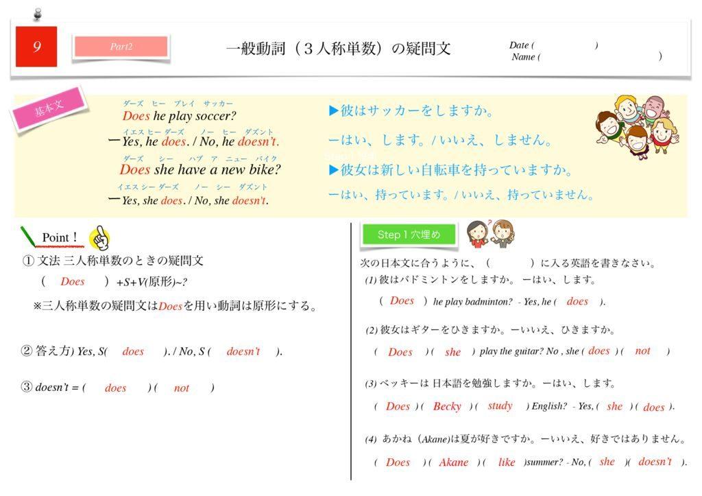 小学生から使える英語問題集中1k-53のサムネイル