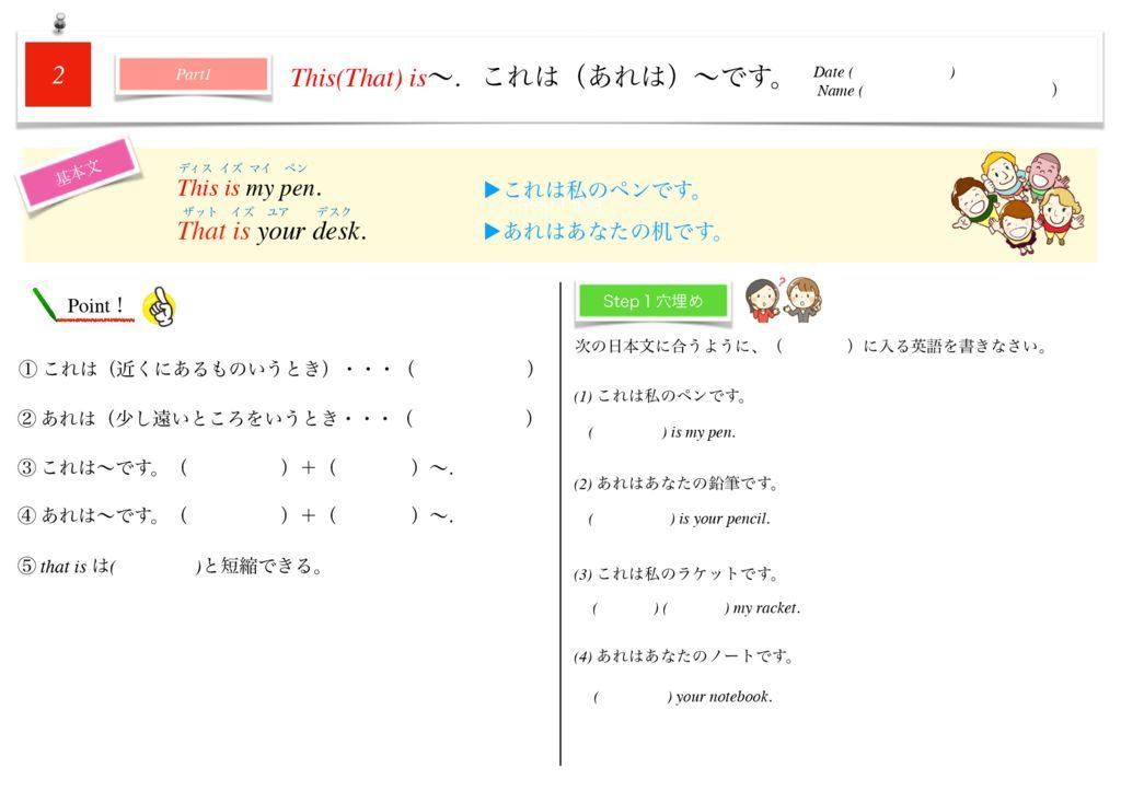 小学生から使える英語問題集中1m-10のサムネイル