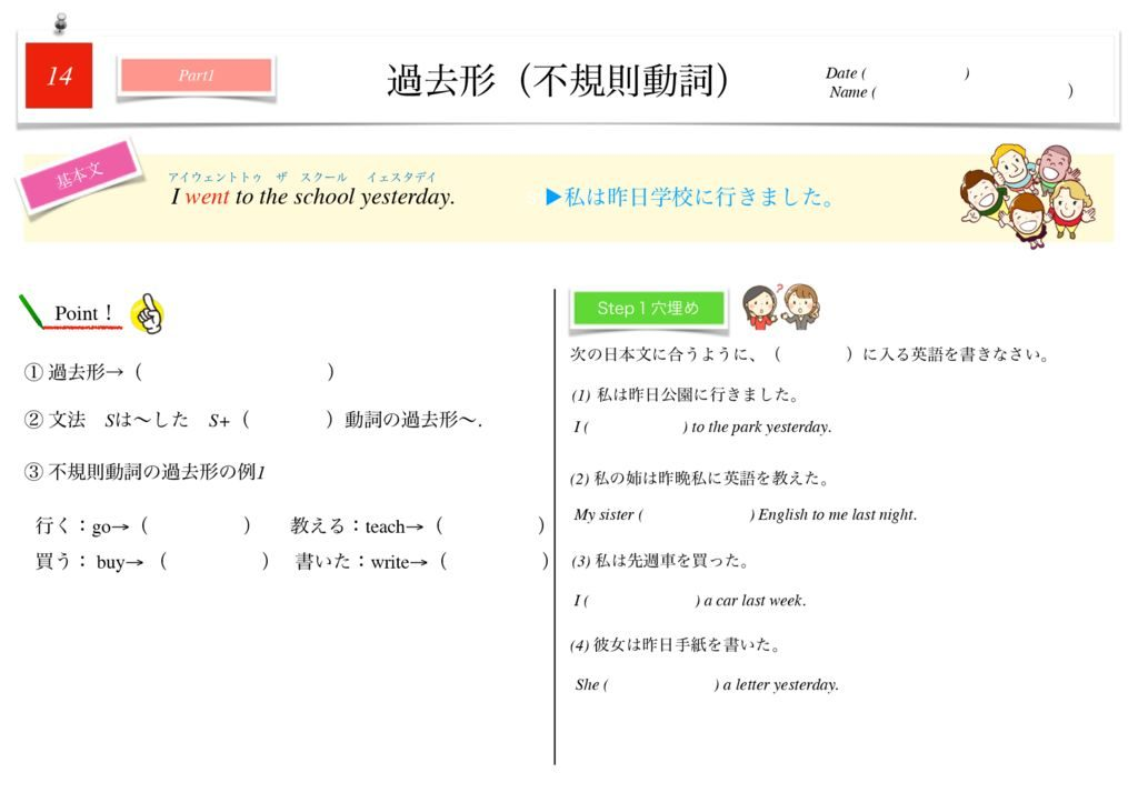 小学生から使える英語問題集中1m-100のサムネイル