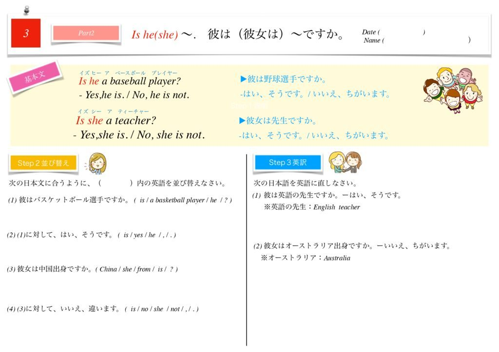 小学生から使える英語問題集中1m-20のサムネイル