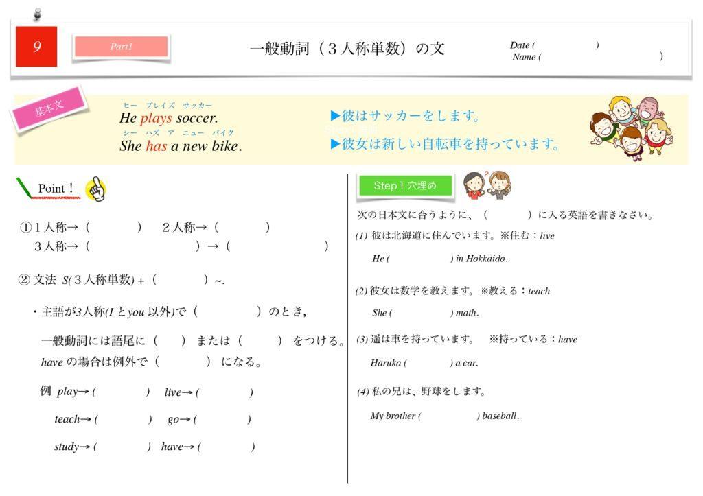 小学生から使える英語問題集中1m-51-57のサムネイル