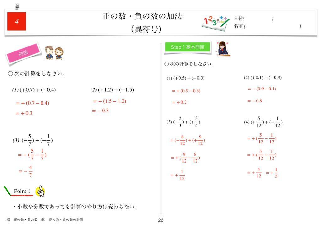 世界一わかりすい中1数学1章k-26のサムネイル