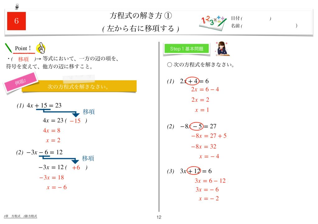世界一わかりすい中1数学3章k-12のサムネイル