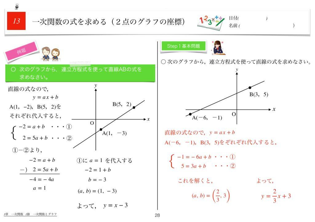 世界一わかりすい中2数学3章k-28のサムネイル