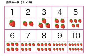 数字カード(1〜10)